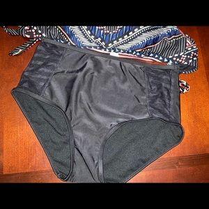 Black high waist bikini bottom from Bar III small